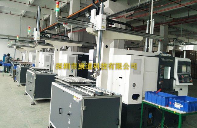 龙门式桁架机械手,数控机床自动上下料机器人