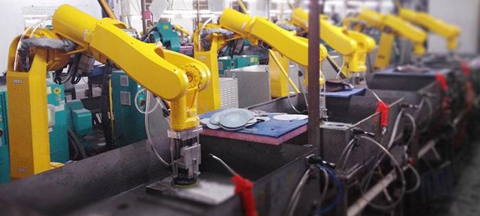 六轴机器人实现笔记本生产线铝合金零件打磨自动化
