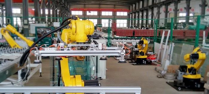 六轴机器人实现玻璃搬运
