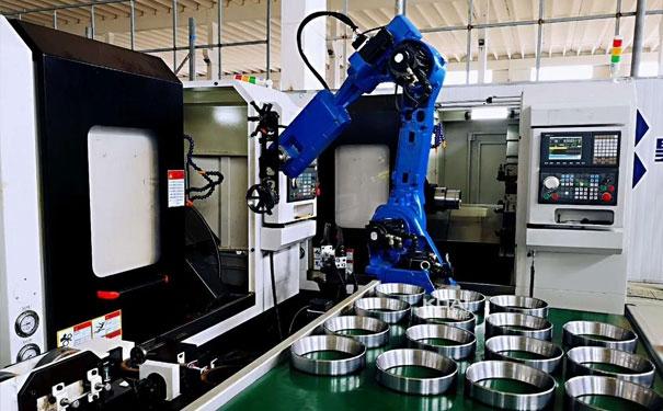轴承套圈数控机床机加工自动化-六轴机器人